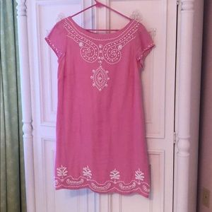 Timeless beaded Lilly Pulitzer Linen Shift